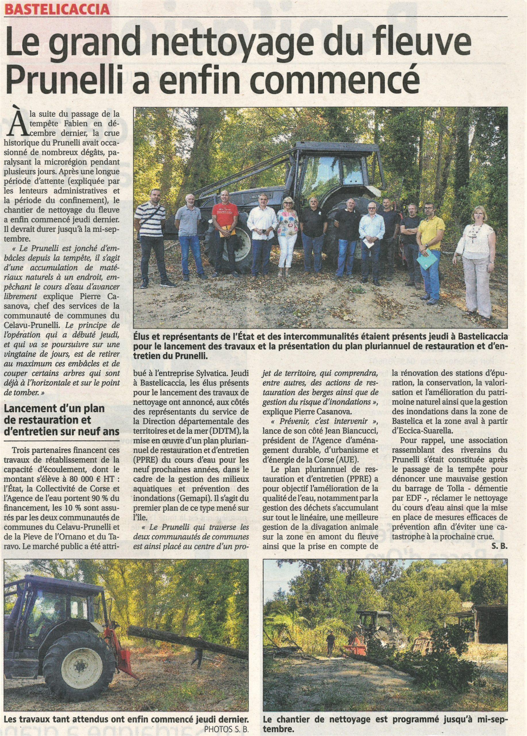 Nettoyage du fleuve Prunelli