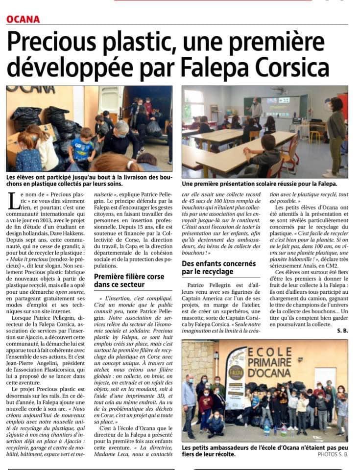L'école primaire d'Ocana et le projet Precious Plastic.