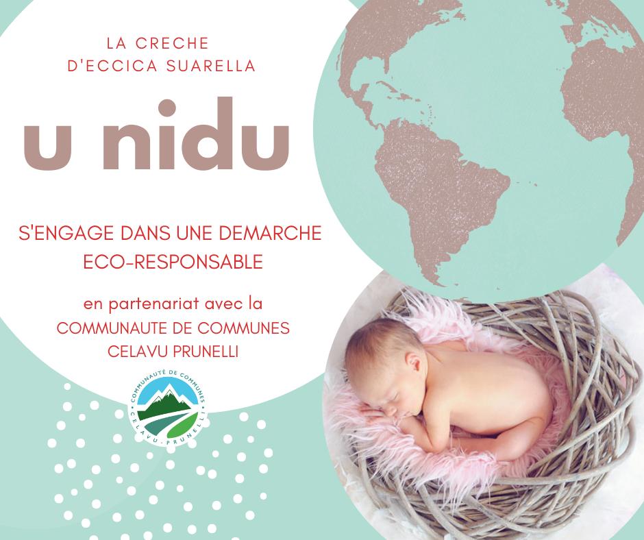 Nos crèches s'engagent dans une démarche éco-responsable : La crèche U Nidu à Eccica Suarella.