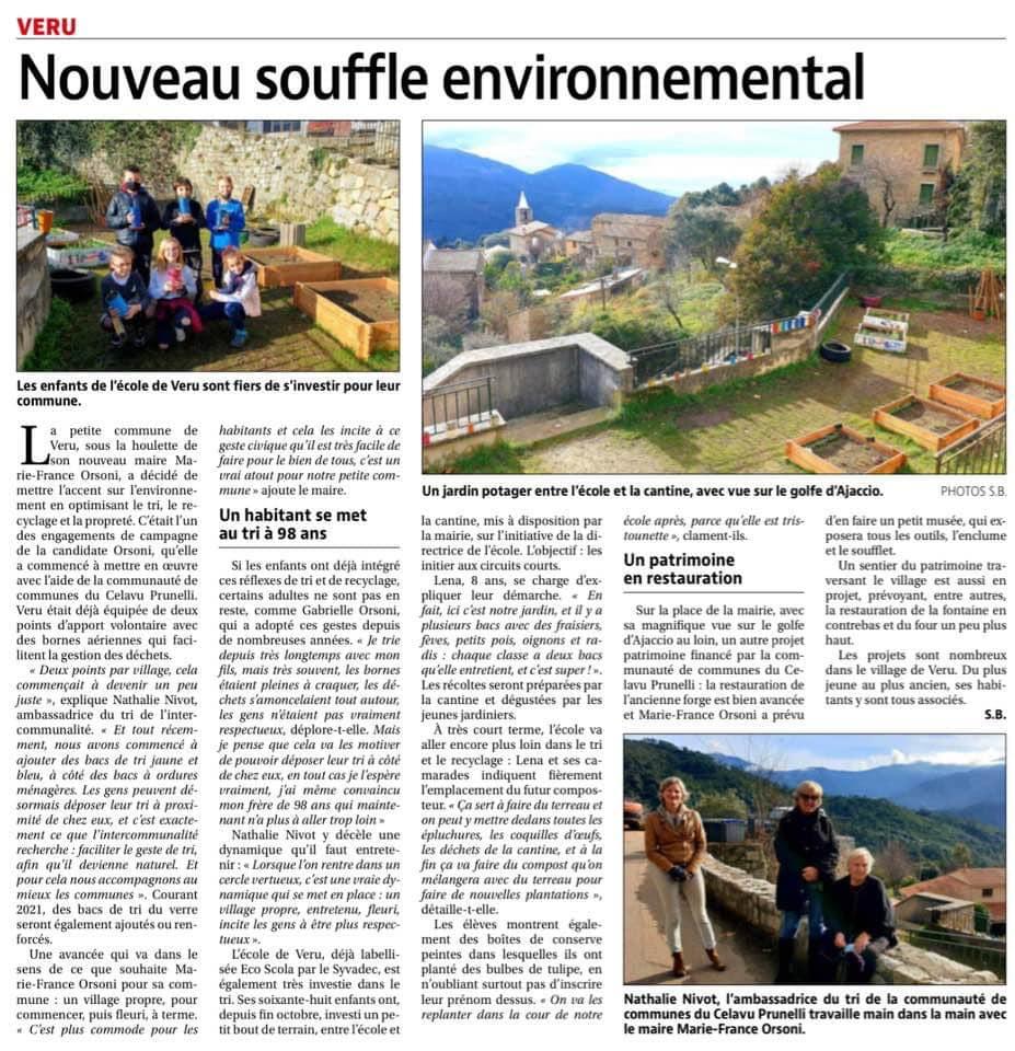 Nouveau souffle environnemental pour la commune de Vero.