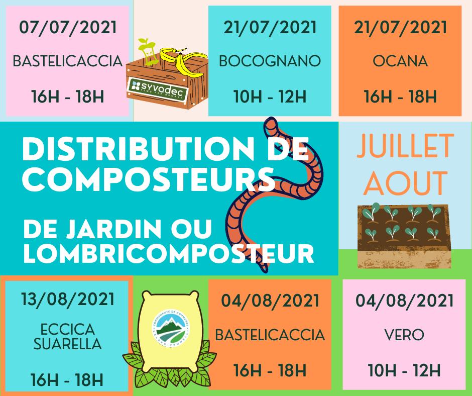 Planning de distribution de composteur juillet/août !